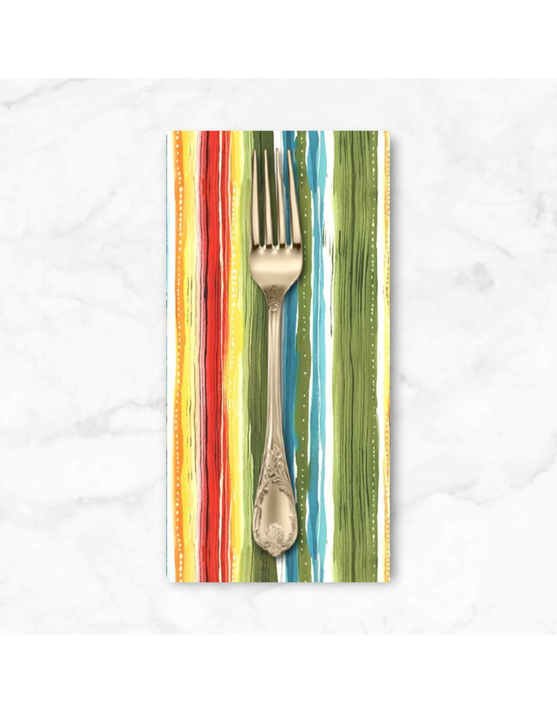 PD's Michael Miller Collection Lost in Paradise, Tropical Stripe in Multi, Dinner Napkin