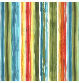 Michael Miller Lost in Paradise, Tropical Stripe in Multi, Fabric Half-Yards CX9115
