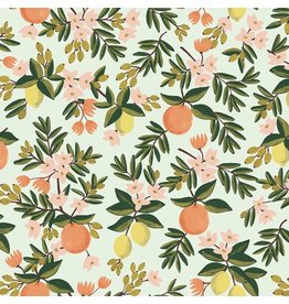 Rifle Paper Co. Primavera, Citrus Floral in Mint, Fabric Half-Yards RP300-MI2