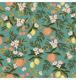 Rifle Paper Co. Primavera, Citrus Floral in Teal, Fabric Half-Yards RP300-TE3