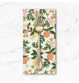 PD's Rifle Paper Co Collection Primavera, Citrus Floral in Mint, Dinner Napkin