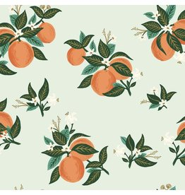 Rifle Paper Co. Primavera, Citrus Blossom in Orange with Metallic, Fabric Half-Yards RP301-OR4M