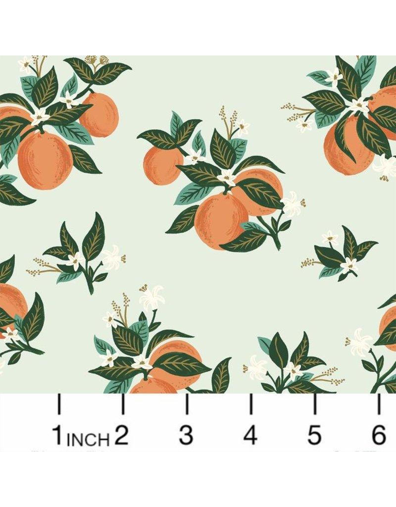 Rifle Paper Co. Primavera, Citrus Blossom in Orange with Metallic, Fabric Half-Yards RP301-OR4M
