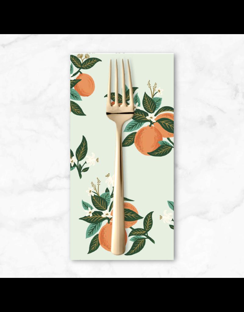 PD's Rifle Paper Co Collection Primavera, Citrus Blossom in Orange, Dinner Napkin