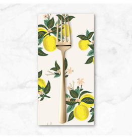 PD's Rifle Paper Co Collection Primavera, Citrus Blossom in Lemon, Dinner Napkin