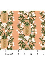 PD's Rifle Paper Co Collection Primavera, Pineapple Stripe in Peach, Dinner Napkin