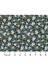 Rifle Paper Co. Primavera, Rosa in Black, Fabric Half-Yards RP305-BK1