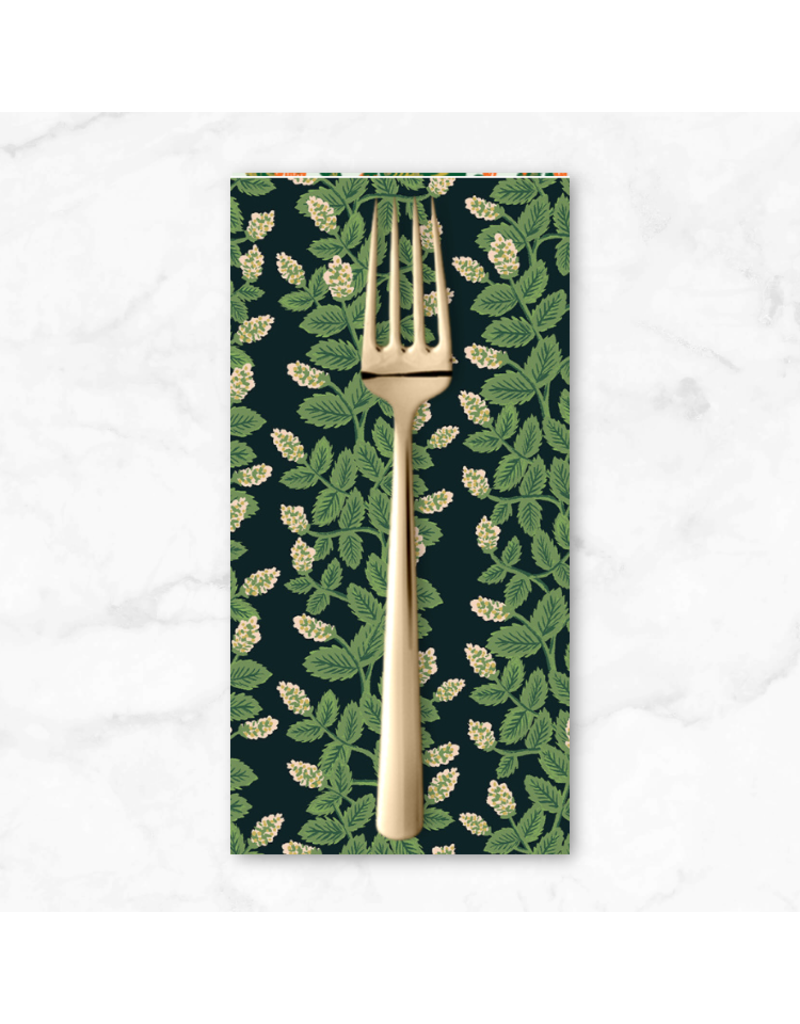 PD's Rifle Paper Co Collection Primavera, Climbing Vines in Black, Dinner Napkin