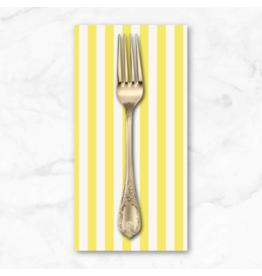 PD's Rifle Paper Co Collection Primavera, Cabana Stripe in Yellow, Dinner Napkin
