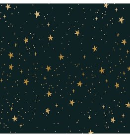 Rifle Paper Co. Primavera, Stars in Black with Metallic, Fabric Half-Yards RP310-BK2M