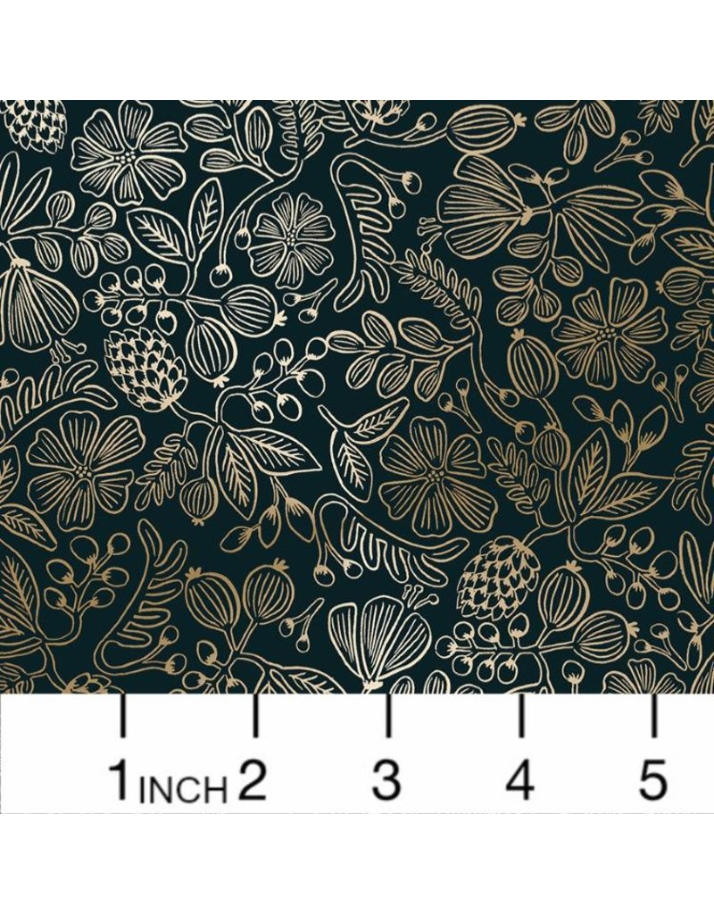 PD's Rifle Paper Co Collection Primavera, Moxie Floral Stars in Black, Dinner Napkin
