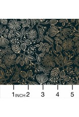 Rifle Paper Co. Primavera, Moxie Floral Stars in Black with Metallic, Fabric Half-Yards RP308-BK3M