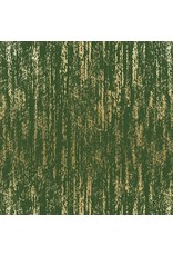 Sarah Watts Ruby Star Society, Tiger Fly Brushed in Sarah Green with Metallic, Fabric Half-Yards RS2005 31M