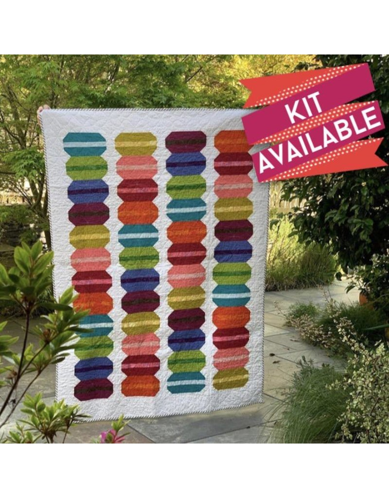 "French Macaron Quilt Kit - Fabric to make the 52"" x 70"" quilt top made by Dede as pictured"