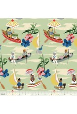 Elizabeth Grubaugh Out to Sea, Explorers in Mint, Fabric Half-Yards 126.107.01.2