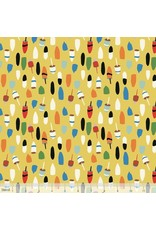 PD's Blend Fabrics Collection Out to Sea, Bobbing Buoys in Gold, Dinner Napkin