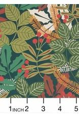Alexander Henry Fabrics Christmas Time, Pine Berry in Hunter, Fabric Half-Yards 8275