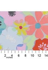 Alexander Henry Fabrics Boardwalk, Blossom in Dove Grey, Fabric Half-Yards 8730B