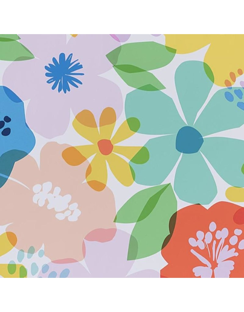 Alexander Henry Fabrics Boardwalk, Blossom in White, Fabric Half-Yards 8730A
