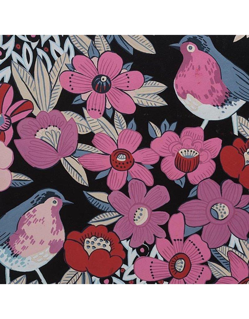 Alexander Henry Fabrics Birdland, Birds in Black, Fabric Half-Yards 8534B