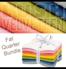 Robert Kaufman Lush Velveteen Fat Quarter Bundle from Robert Kaufman Fabrics - 7pcs.