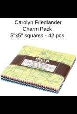 "Carolyn Friedlander Collection CF, by Caroline Friedlander, 5""x5"" Charm Pack, 42 pcs."