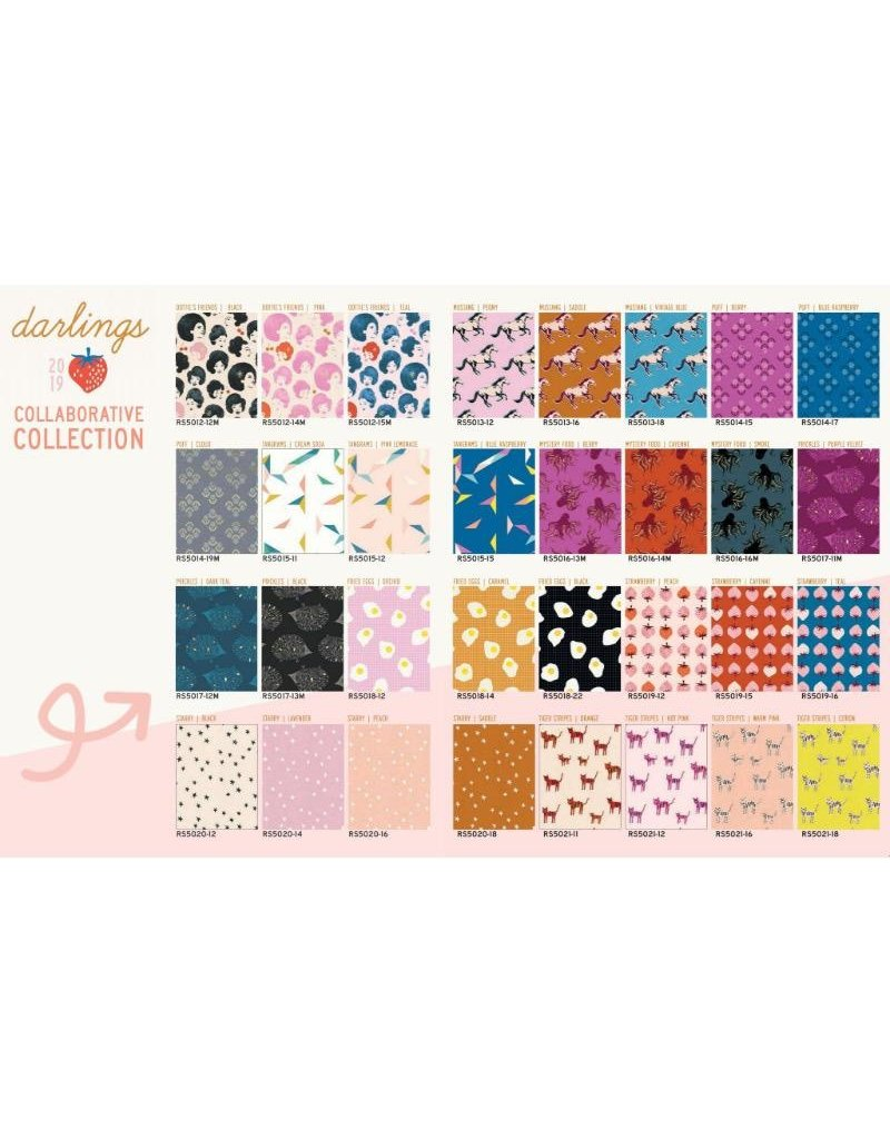 """Ruby Star Society for Moda Darlings 10""""x10"""" Charm Pack from Ruby Star Society - 42 pieces,"""