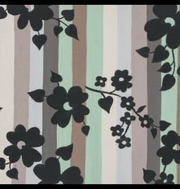 Alexander Henry Fabrics ON SALE-The Ghastlies, A Ghastlie Stripe in Sage Gray, Fabric full-Yards 8595C