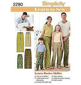 Simplicity Simplicity, Learn to Sew PJ Pants Pattern