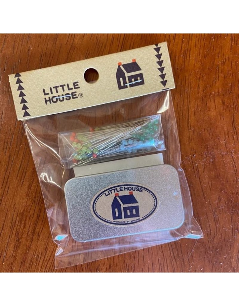Little House, Glass Head Pins, 100 Pins with Storage Tin