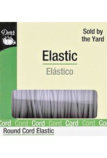 ARRIVING JULY -Round Cord Elastic - White, by the yard