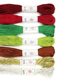Sublime Stitching Embroidery Floss Set, Christmas Tree Palette - Seven 8.75 yard skeins, from Sublime Stitching