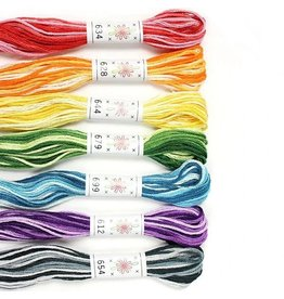 Sublime Stitching Embroidery Floss Set, Taffy Pull Palette - Seven 8.75 yard skeins, from Sublime Stitching