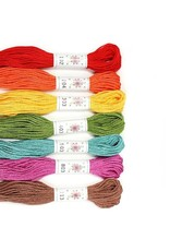 Sublime Stitching Embroidery Floss Set, Fruit Salad Palette - Seven 8.75 yard skeins, from Sublime Stitching