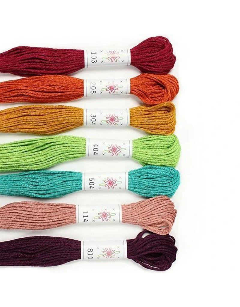 Sublime Stitching Embroidery Floss Set, Parlour Palette - Seven 8.75 yard skeins, from Sublime Stitching