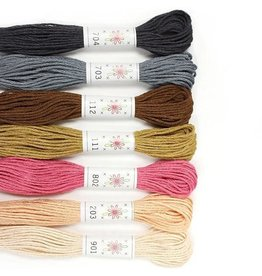 Sublime Stitching Embroidery Floss Set, Portrait Palette - Seven 8.75 yard skeins, from Sublime Stitching