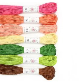 Sublime Stitching Embroidery Floss Set, Flowerbox Palette - Seven 8.75 yard skeins, from Sublime Stitching