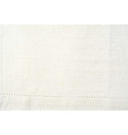 Tea or Kitchen Towel, White, Decorative Hem, Perfect for Embroidery