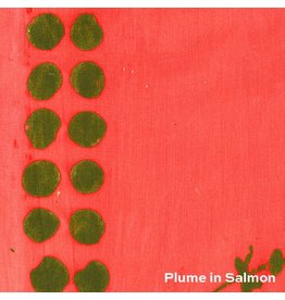 Alison Glass Handcrafted 2, Plume Double Border in Salmon, Fabric Half-Yards