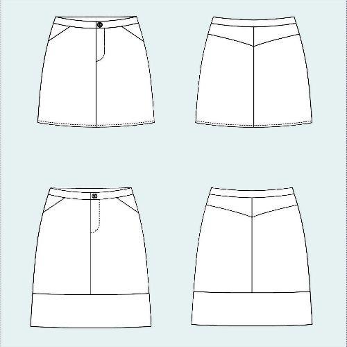 Grainline Studio Grainline's Moss Skirt Pattern