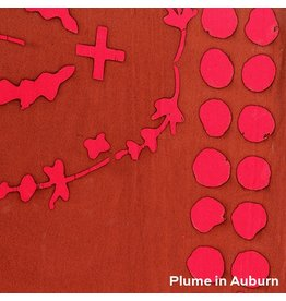 Alison Glass Handcrafted 2, Plume Double Border in Auburn, Fabric Half-Yards