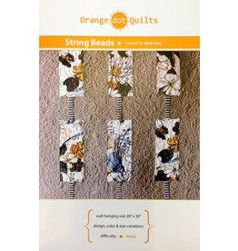 Orange Dot Quilts Orange Dot Quilt's String Beads Pattern