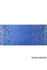 Alison Glass Handcrafted Indigos, Petals Double-Border in Cobalt, Fabric Half-Yards
