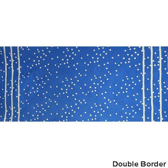 Alison Glass Handcrafted Indigos, Speckle Double-Border in Blue Jay, Fabric Half-Yards