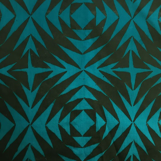 Alison Glass Handcrafted Patchwork, Pineapple in Lagoon, Fabric Half-Yards