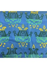 Alison Glass Handcrafted Patchwork, Lotus in Sapphire, Fabric Half-Yards