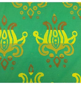 Alison Glass Handcrafted Patchwork, Lotus in Pistachio, Fabric Half-Yards