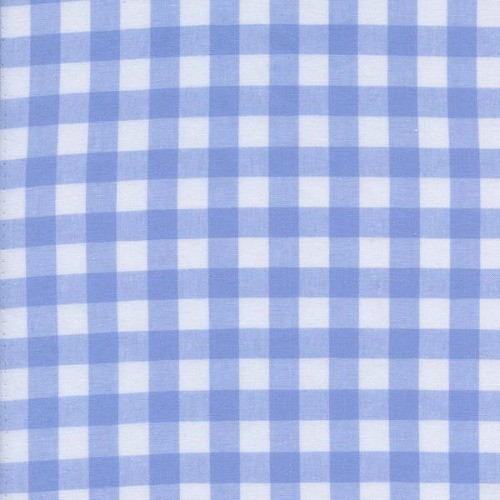 """Cotton + Steel Checkers Woven 1/2"""" Gingham in Sky, Fabric Half-Yards"""