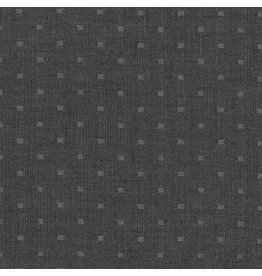 Robert Kaufman Double Gauze, Chambray Dobby in Black, Fabric Half-Yards