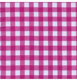 """Cotton + Steel Checkers Woven 1/2"""" Gingham in Berry, Fabric Half-Yards"""